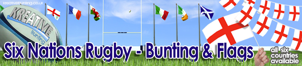 Six Nations Rugby Flags and Bunting