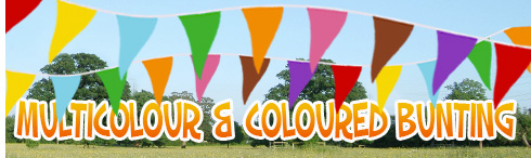 Multi colour bunting