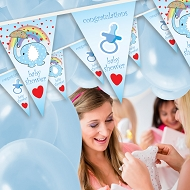 Baby Boy - Baby Shower Bunting  - Design 1