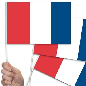 French/France Handwaving Flags - 10 Pack
