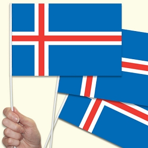 Iceland Handwaving Flags - 10 Pack
