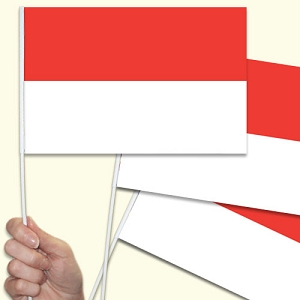 Indonesia Handwaving Flags - 10 Pack
