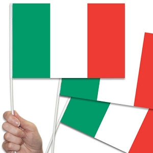 Italian/Italy Handwaving Flags - 10 Pack