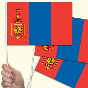 Mongolia Handwaving Flags - 10 Pack