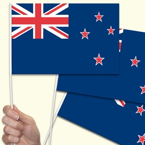 New Zealand Handwaving Flags - 10 Pack