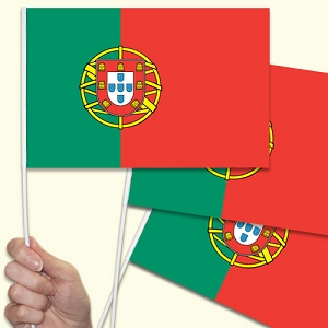 Portugal/Portuguese Handwaving Flags - 10 Pack