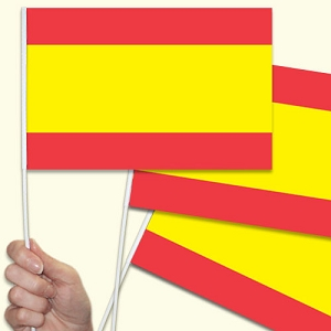 Spain/Spanish Handwaving Flags - 10 Pack