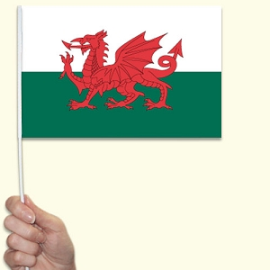 Wales / Welsh Handwaving Flags - 10 Pack