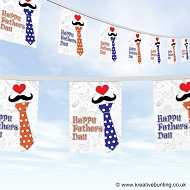 Fathers day polkadots tie bunting