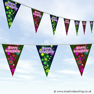 Floral Birthday Bunting Design 01