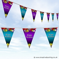 Floral Birthday Bunting Design 02