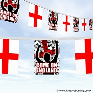 Come On England Football Bunting