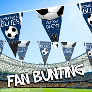 Blues Football Bunting