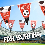 Red Football Fan Bunting