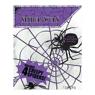 Scary Halloween Spiders Web with 4 Spiders