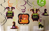 Witch Swirl Halloween Hanging Decorations