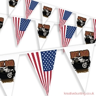 HotRod Bunting - USA themed