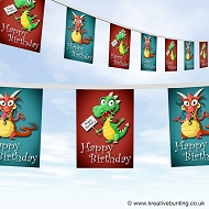 Dragon Birthday Party Bunting