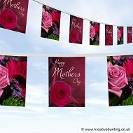 Mothers day bunting design 2 flowers