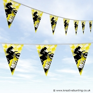 Dirtbike Off Road Motorcycle Bunting - MX Bold Yellow