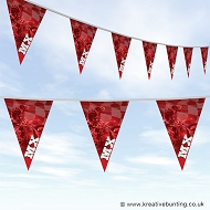 Dirtbike Off Road Motorcycle Bunting - MX Red