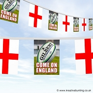 Come On England Rugby Bunting