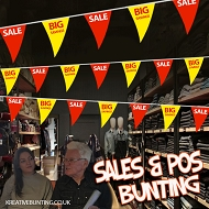 Sale/Big Discount Bunting RED / YELLOW