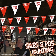 Sale/NOW ON Bunting RED and WHITE