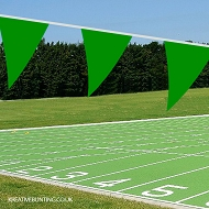 GREEN School Sports Day Bunting / team event Bunting in GREEN (Single 10 mtr. length)