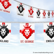 St. George's Day bunting - Lion heads design