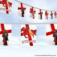 St. George's Day bunting - St George and the Dragon design