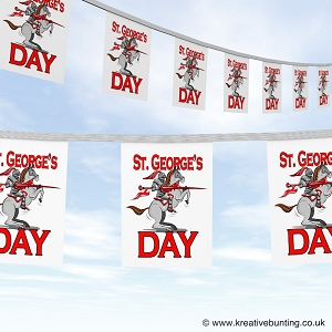 St. George's Day bunting - Knight on Horse Design