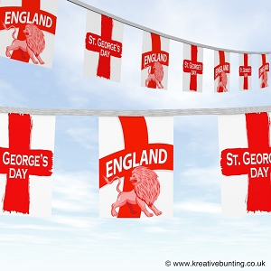 St. George England Bunting - English lion design