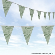 Wedding Day Bunting - Velvet Ice Green