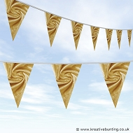 Wedding Day Bunting - Velvet Inca Gold