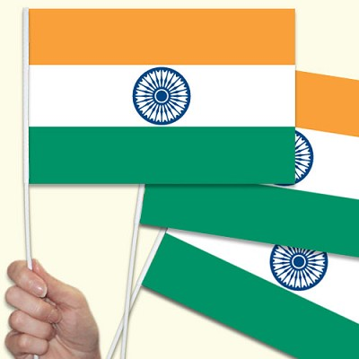 India Handwaving Flags - 10 Pack