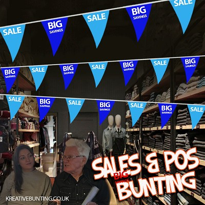 Sale/Big Savings Bunting BLUE