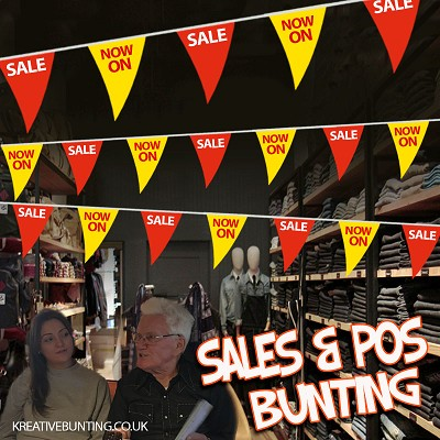 Sale/NOW ON Bunting RED and YELLOW