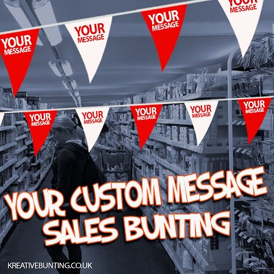 YOUR TEXT/YOUR COLOUR - CUSTOM POS Bunting