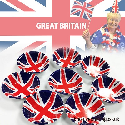 Union Jack / Great Britain Party Bowls